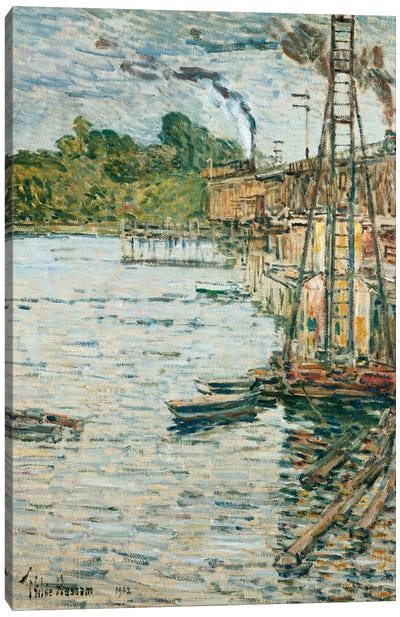 The Mill Pond, Cos Cob, Connecticut, 1902  Canvas Art Print