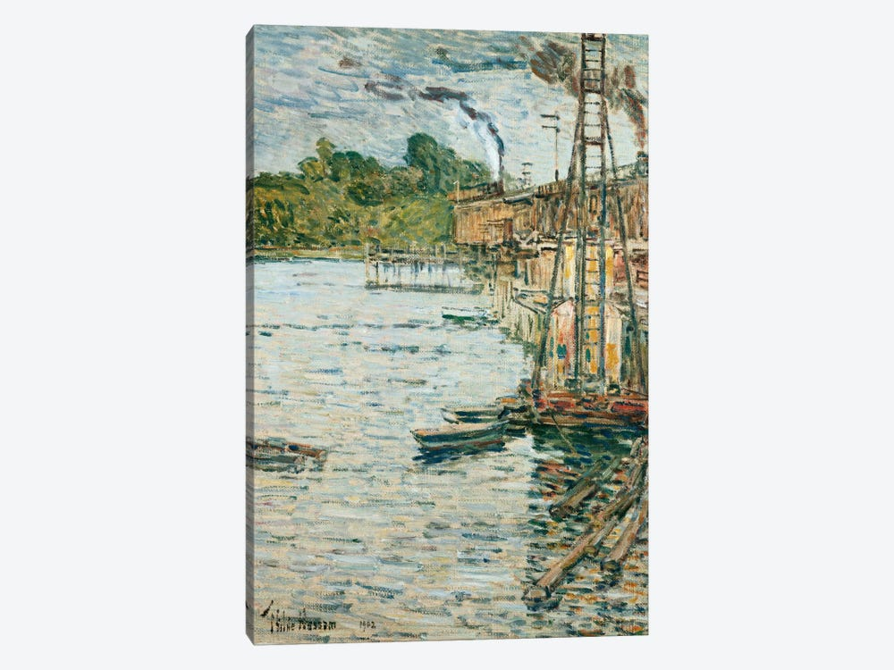 The Mill Pond, Cos Cob, Connecticut, 1902 by Childe Hassam 1-piece Canvas Artwork