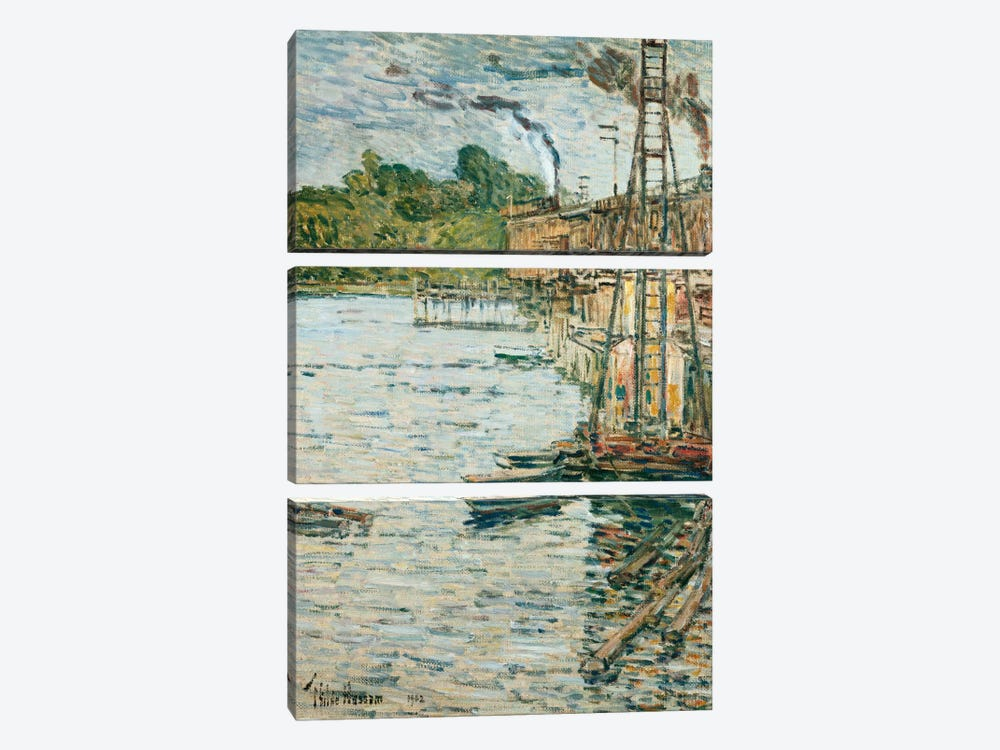 The Mill Pond, Cos Cob, Connecticut, 1902  by Childe Hassam 3-piece Canvas Wall Art