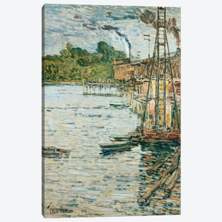The Mill Pond, Cos Cob, Connecticut, 1902  Canvas Print #BMN5372} by Childe Hassam Canvas Art Print