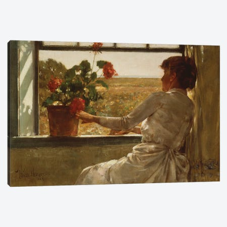 Summer Evening, 1886  Canvas Print #BMN5374} by Childe Hassam Canvas Wall Art