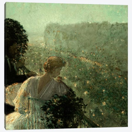 Summer Evening, Paris, 1889 Canvas Print #BMN5376} by Childe Hassam Canvas Wall Art