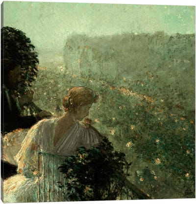 Summer Evening, Paris, 1889 Canvas Art Print