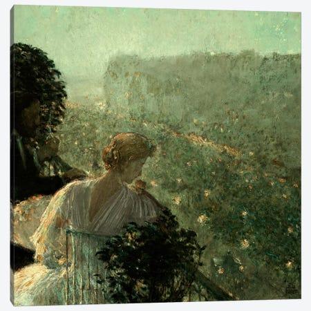 Summer Evening, Paris, 1889 Canvas Print #BMN5376} by Childe Hassam Canvas Wall Art
