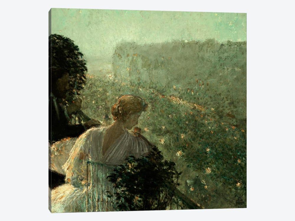 Summer Evening, Paris, 1889 by Childe Hassam 1-piece Canvas Art