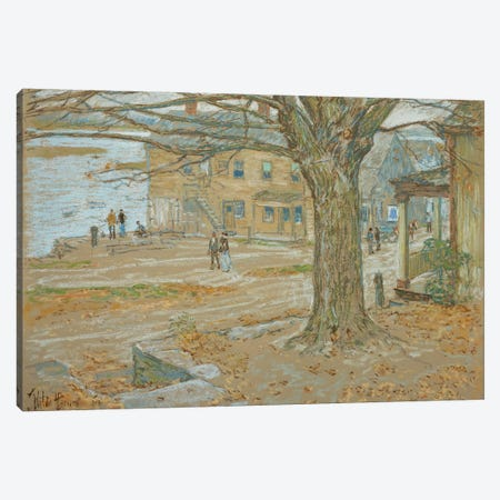 November, Cos Cob, 1902  3-Piece Canvas #BMN5377} by Childe Hassam Canvas Artwork