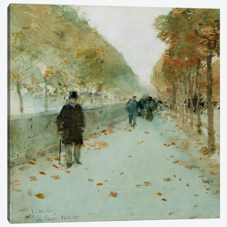 Quai du Louvre, 1889  Canvas Print #BMN5378} by Childe Hassam Canvas Art Print