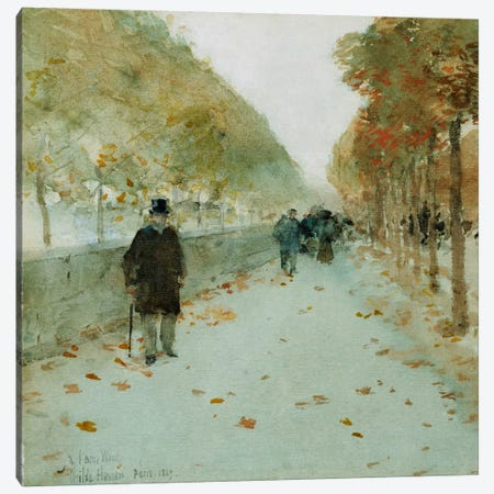 Quai du Louvre, 1889  Canvas Print #BMN5378} by Childe Hassam Canvas Art Print