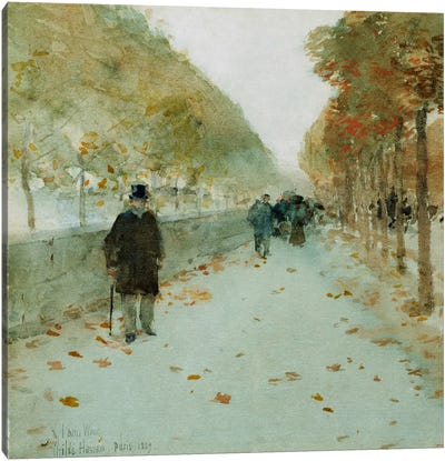 Quai du Louvre, 1889  Canvas Art Print