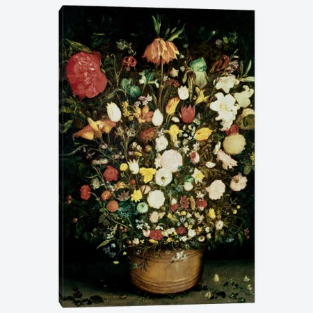 Vase of Flowers Canvas Print #BMN537} by Jan Brueghel the Elder Canvas Art Print