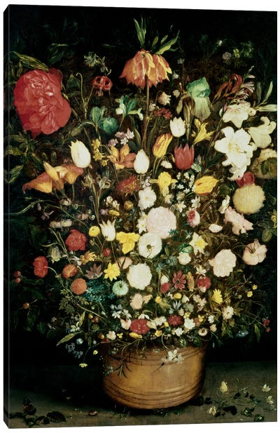 Vase of Flowers Canvas Art Print