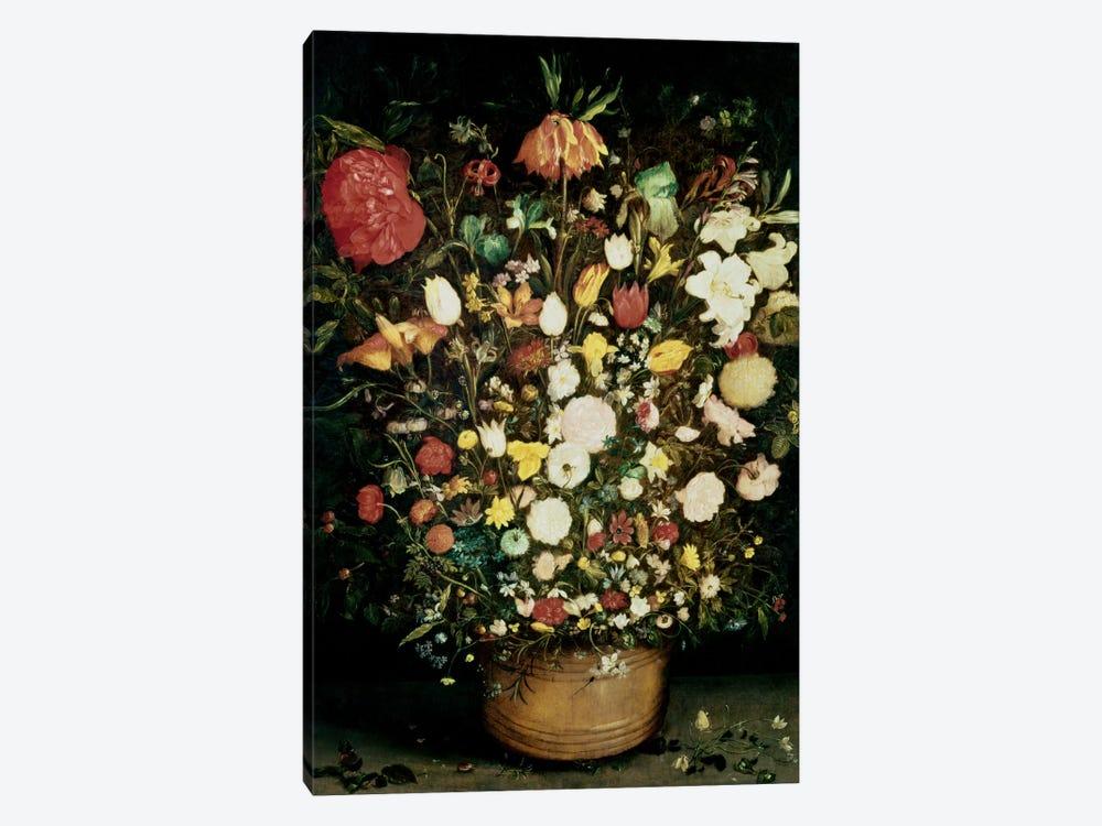 Vase of Flowers by Jan Brueghel the Elder 1-piece Canvas Print