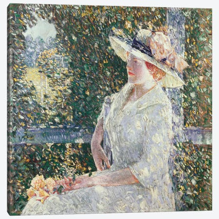 Portrait of Miss Weir, 1909  Canvas Print #BMN5380} by Childe Hassam Canvas Art