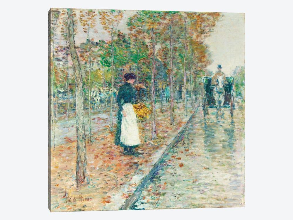 Autumn Boulevard, Paris  by Childe Hassam 1-piece Art Print