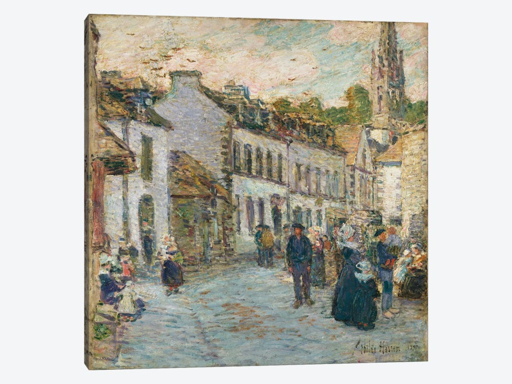 Street in Pont Aven - Evening, 1897  by Childe Hassam 1-piece Canvas Art Print