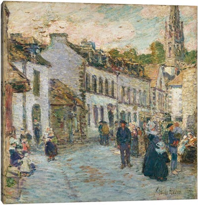 Street in Pont Aven - Evening, 1897  Canvas Art Print