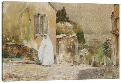 Spring Morning, Rue Mt. Cenis Montmartre, 1889 Canvas Art Print