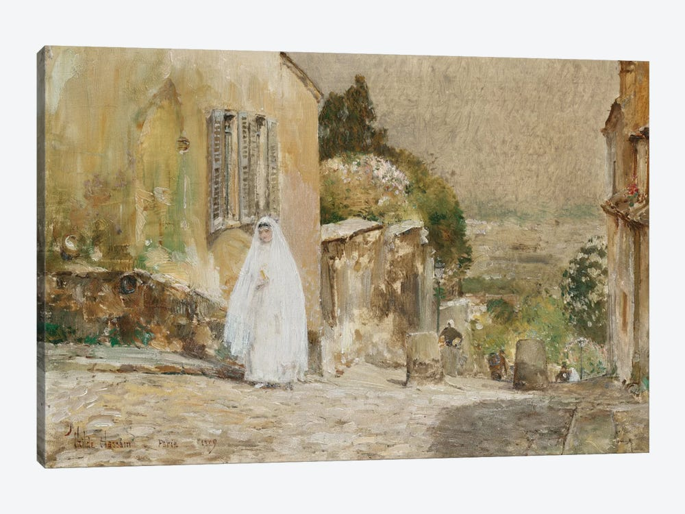 Spring Morning, Rue Mt. Cenis Montmartre, 1889 by Childe Hassam 1-piece Canvas Art