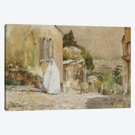 Spring Morning, Rue Mt. Cenis Montmartre, 1889  Canvas Print #BMN5385} by Childe Hassam Canvas Print