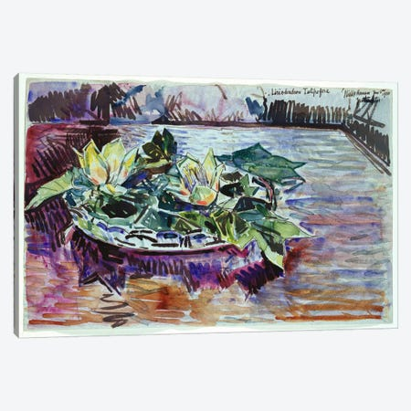 Tulips in a Bowl, 1933  Canvas Print #BMN5387} by Childe Hassam Canvas Art Print