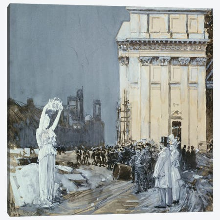 Scene at the World's Columbian Exposition, Chicago, Illinois, 1892  Canvas Print #BMN5389} by Childe Hassam Canvas Art