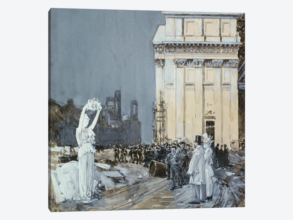 Scene at the World's Columbian Exposition, Chicago, Illinois, 1892  by Childe Hassam 1-piece Canvas Artwork