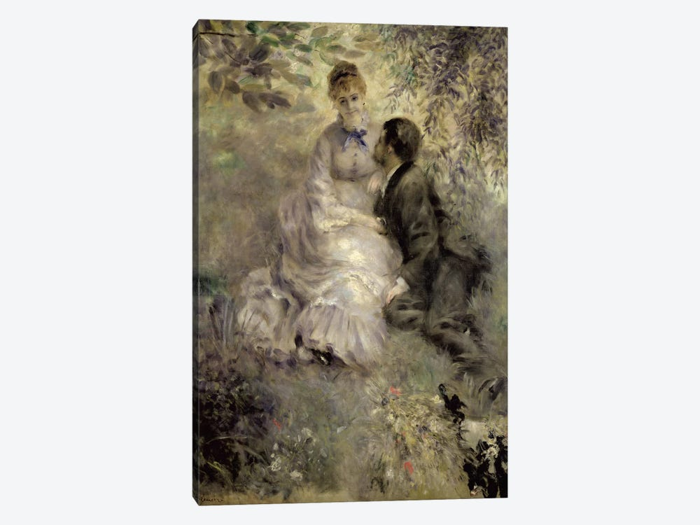 The Lovers, c.1875  by Pierre-Auguste Renoir 1-piece Canvas Wall Art