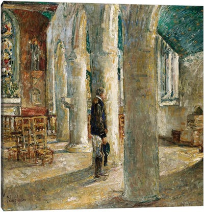 Church Interior, Brittany, 1897  Canvas Art Print
