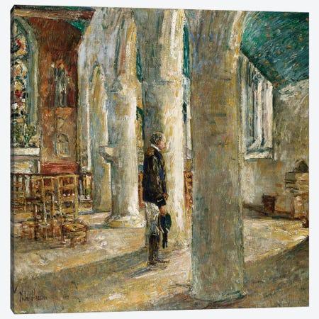 Church Interior, Brittany, 1897  Canvas Print #BMN5391} by Childe Hassam Canvas Print