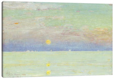 Moonrise at Sunset, Cape Ann, 1892  Canvas Art Print