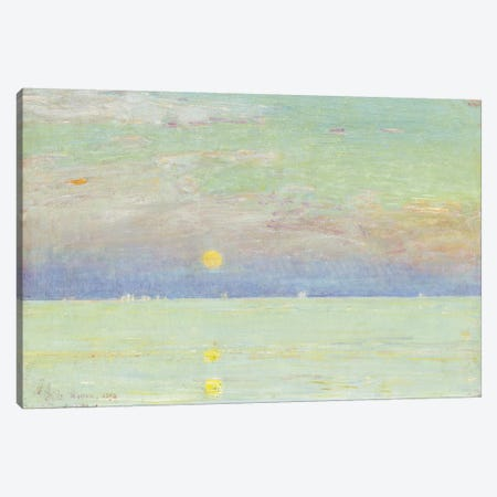 Moonrise at Sunset, Cape Ann, 1892  Canvas Print #BMN5393} by Childe Hassam Canvas Print