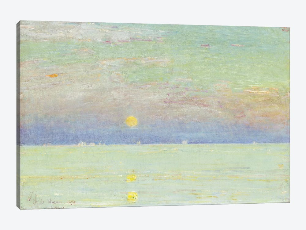 Moonrise at Sunset, Cape Ann, 1892  by Childe Hassam 1-piece Canvas Print