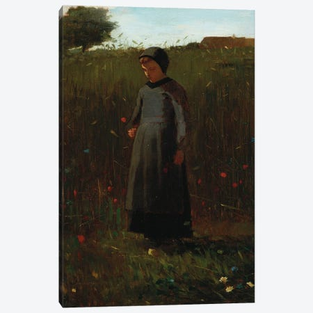 The Flowers of the Field  Canvas Print #BMN5397} by Winslow Homer Canvas Artwork