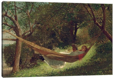 Girl in the Hammock, 1873 by Winslow Homer Canvas Art Print