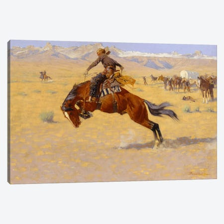 A Cold Morning on the Range, c.1904  Canvas Print #BMN5399} by Frederic Remington Canvas Print