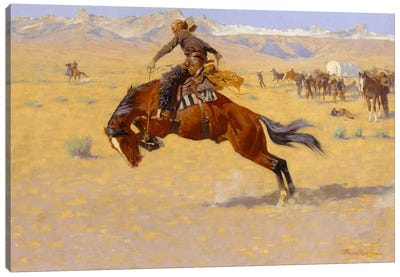 A Cold Morning on the Range, c.1904  Canvas Art Print