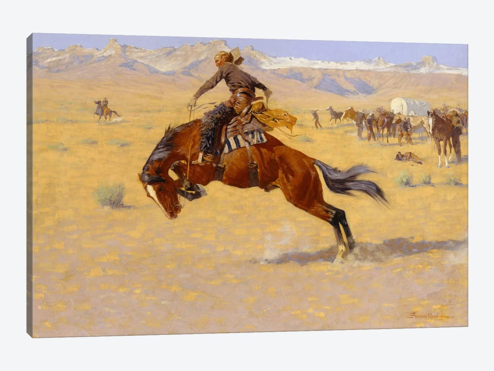 A Cold Morning on the Range, c.1904  by Frederic Remington 1-piece Art Print