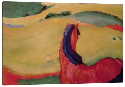 Horse in a landscape, 1910  Canvas Art Print