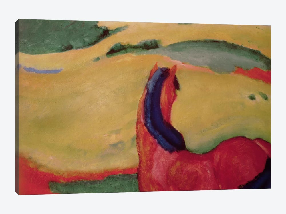 Horse in a landscape, 1910  by Franz Marc 1-piece Canvas Print