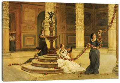 The Morning of the Festival - Central Italy, 1876  Canvas Art Print