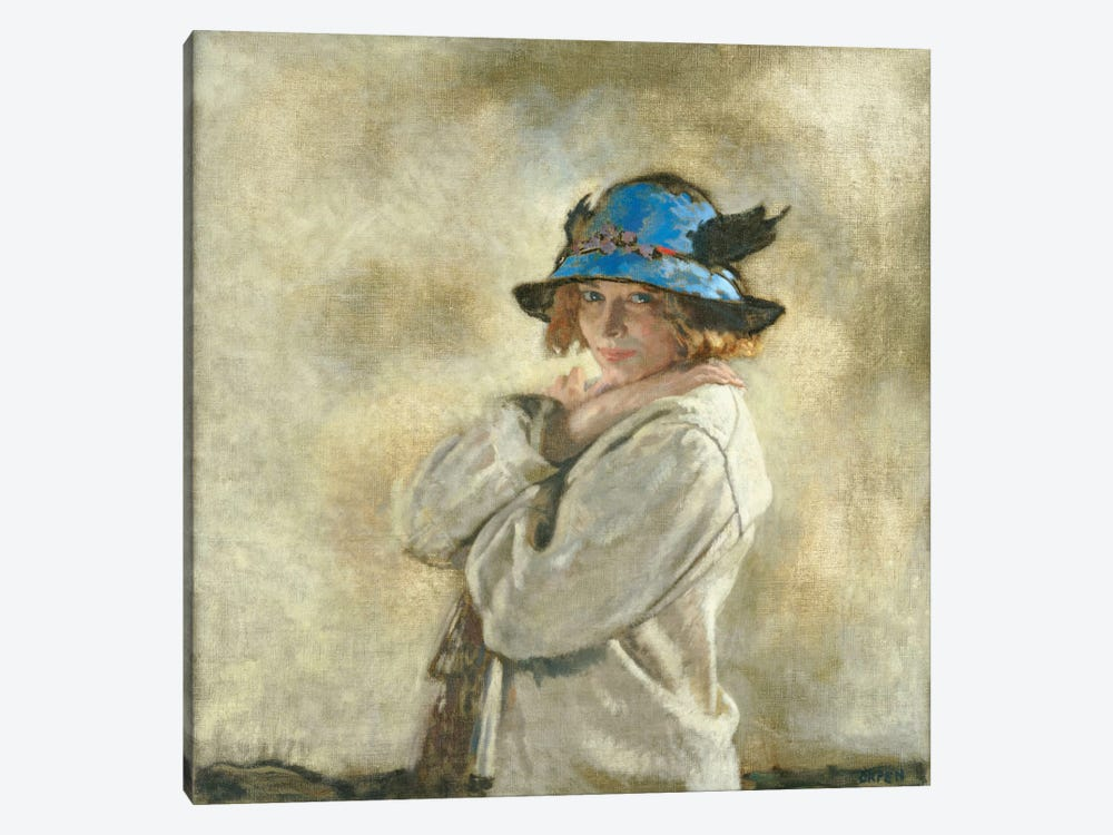 The Blue Hat  by Sir William Orpen 1-piece Canvas Art