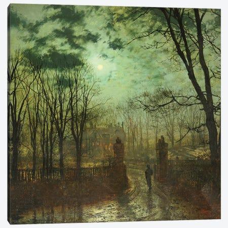 At the Park Gate  Canvas Print #BMN5409} by John Atkinson Grimshaw Art Print