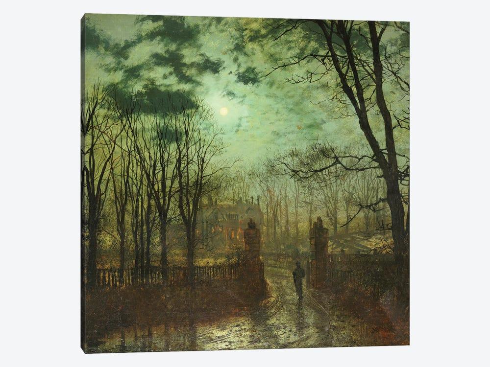 At the Park Gate  by John Atkinson Grimshaw 1-piece Canvas Art Print