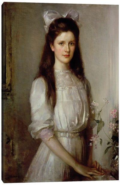 Miss Christian Elspeth Mallock  Canvas Art Print