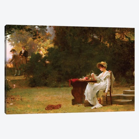 Love at First Sight  Canvas Print #BMN5410} by Marcus Stone Canvas Artwork