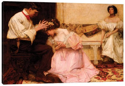 The Two Crowns, 1896  Canvas Art Print
