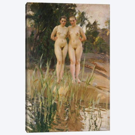 Two Friends  Canvas Print #BMN5413} by Anders Leonard Zorn Canvas Artwork