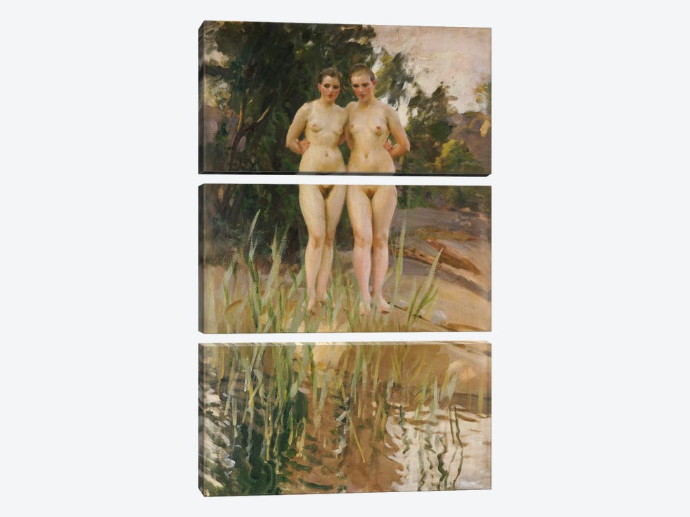 Two Friends  by Anders Leonard Zorn 3-piece Canvas Art
