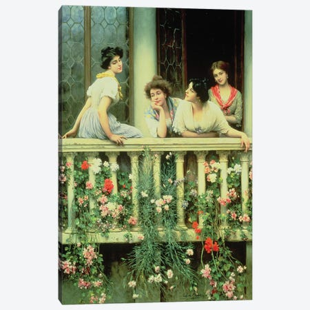 The Balcony, 1911  Canvas Print #BMN5417} by Eugen von Blaas Art Print