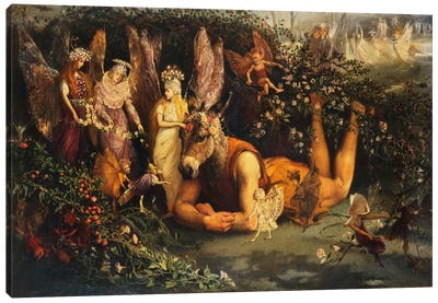 Titania and Bottom, from A Midsummer Night's Dream  Canvas Print #BMN5418
